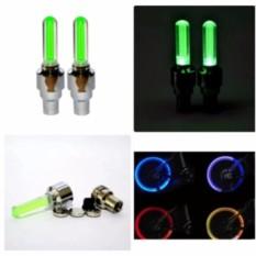 Bộ 2 đèn LED gắn van bánh xe đạp, xe máy, xe ô tô phát sáng khi chuyển bánh (Xanh dương)