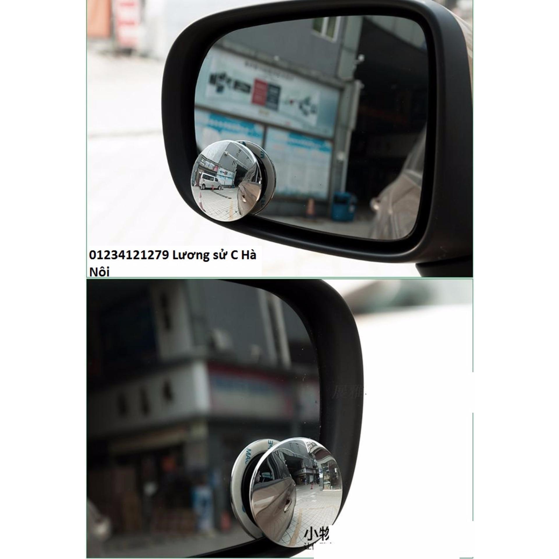 ... Bộ 2 gương cầu lồi chiếu hậu xóa điểm mù xe hơi 360 độ ...