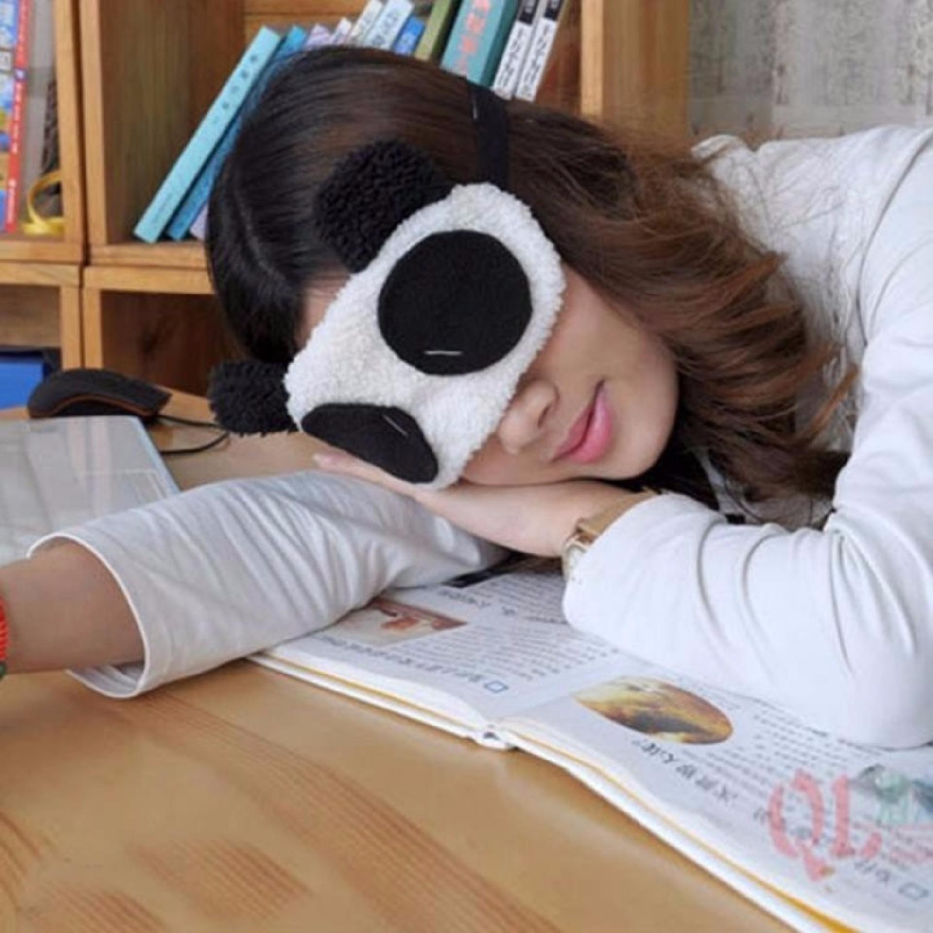 Nơi mua Bộ 2 Tấm Che Mắt Ngủ Hình Gấu Panda