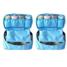 Bộ 2 túi đựng đồ lót du lịch mnpl (Xanh dương)
