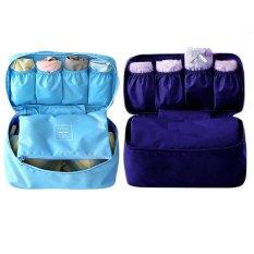 Bộ 2 túi đựng đồ lót du lịch Monopoly underwear (Xanh lam + Xanh than)
