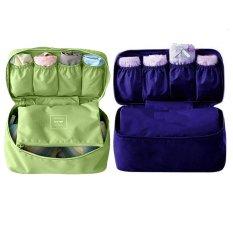 Bộ 2 túi đựng đồ lót du lịch Monopoly underwear (Xanh rêu + Xanh than)