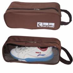 Bộ 2 túi đựng giày đi chơi thể thao, du lịch K6 (Nâu)