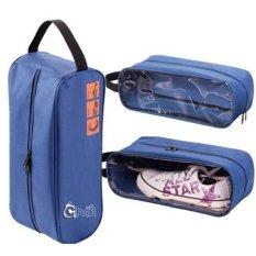 Bộ 2 túi đựng giày đi chơi thể thao, du lịch K6 (Xanh)