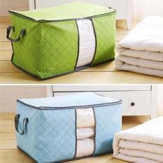 Bộ 2 túi vải đựng chăn màn quần áo tiện dụng