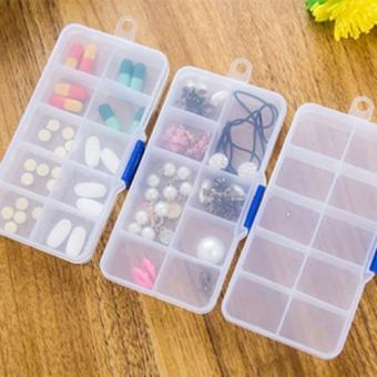 Bộ 3 Hộp Nhựa Đựng Trang Sức,Vật Dụng Tiện Ích Nhiều Ngăn