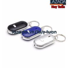 Bộ 3 móc khóa huýt sáo thông minh chạy pin (Đen-Xanh-Trắng)