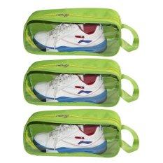 Bộ 3 túi đựng giày du lịch Family Plaza (Xanh chuối)