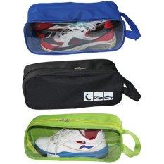 Bộ 3 túi đựng giày du lịch (Xanh dương+Đen+Xanh chuối)