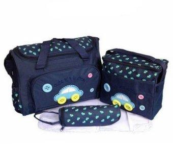 Bộ 3 túi xách cho mẹ và bé hình ôtô (xanh đậm)