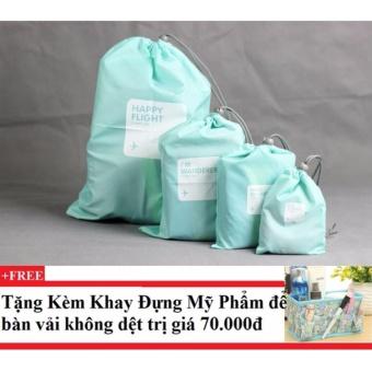 Bộ 4 Túi Rút Du Lịch Chống Thấm (xanh biển) + Tặng kèm khay đựng mỹ phẩm để bàn - 8787925 , TN979OTAA43Q11VNAMZ-7419876 , 224_TN979OTAA43Q11VNAMZ-7419876 , 180000 , Bo-4-Tui-Rut-Du-Lich-Chong-Tham-xanh-bien-Tang-kem-khay-dung-my-pham-de-ban-224_TN979OTAA43Q11VNAMZ-7419876 , lazada.vn , Bộ 4 Túi Rút Du Lịch Chống Thấm (xanh biển) +