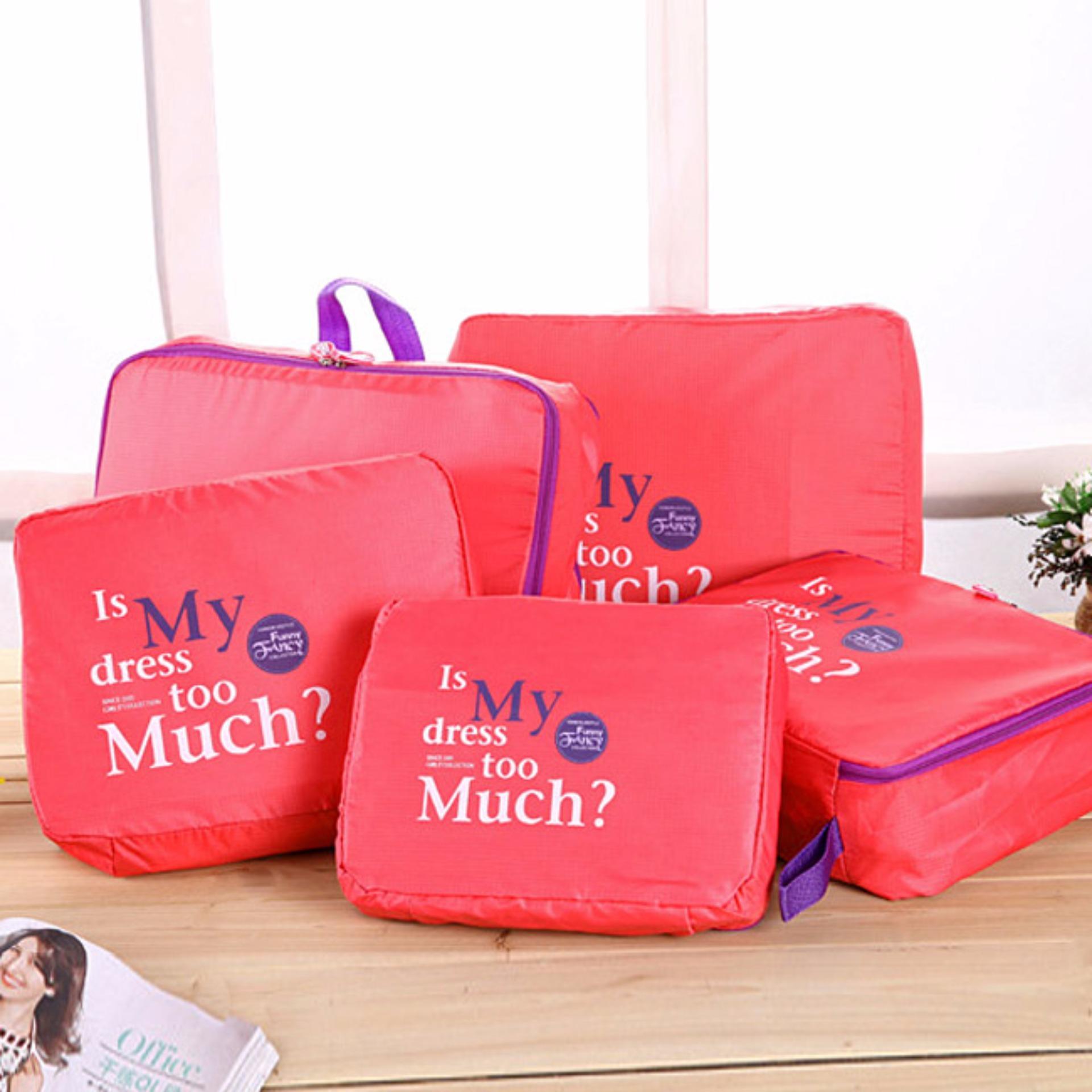 Giá bán Bộ 5 túi Bag in bags tiện dụng (Cam)
