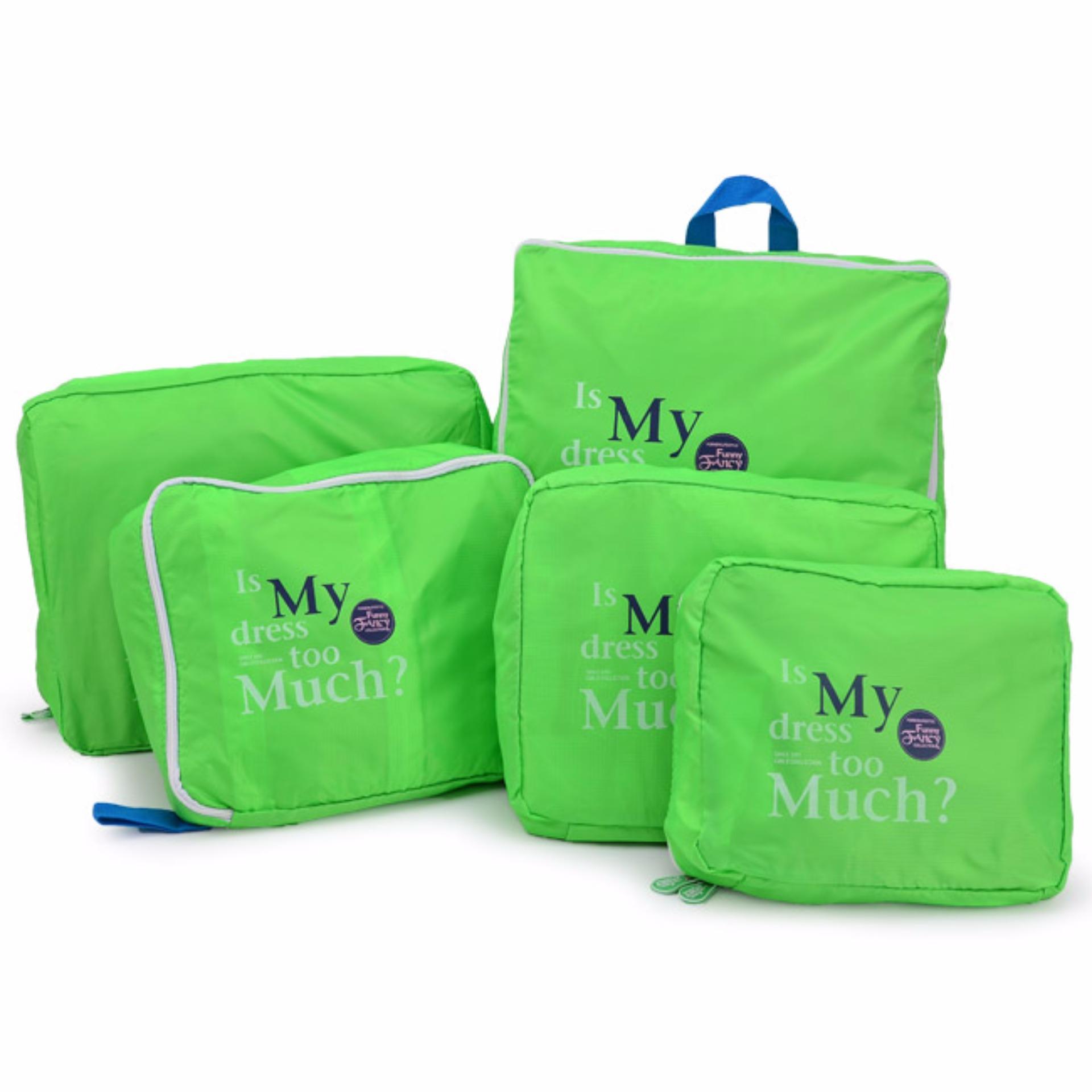 Bộ 5 túi Bag in bags tiện dụng (Xanh lá)