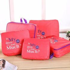 Bộ 5 Túi Bag in bags Traveling ( hồng)