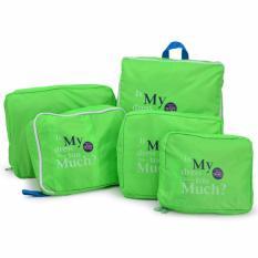 Giảm giá Bộ 5 Túi Bag in bags Traveling ( Xanh lá)