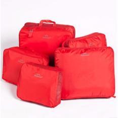 Bộ 5 Túi Du Lịch Bags In Bag Giúp Gọn Hành Lý (ĐỎ)
