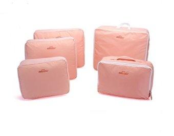 Bộ 5 túi đựng đồ du lịch bag in bag( Hồng)