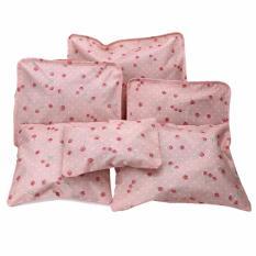 Bộ 6 túi du lịch cherry chống thấm ( hồng nhạt)