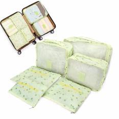 Bộ 6 túi du lịch cherry chống thấm ( xanh lá)
