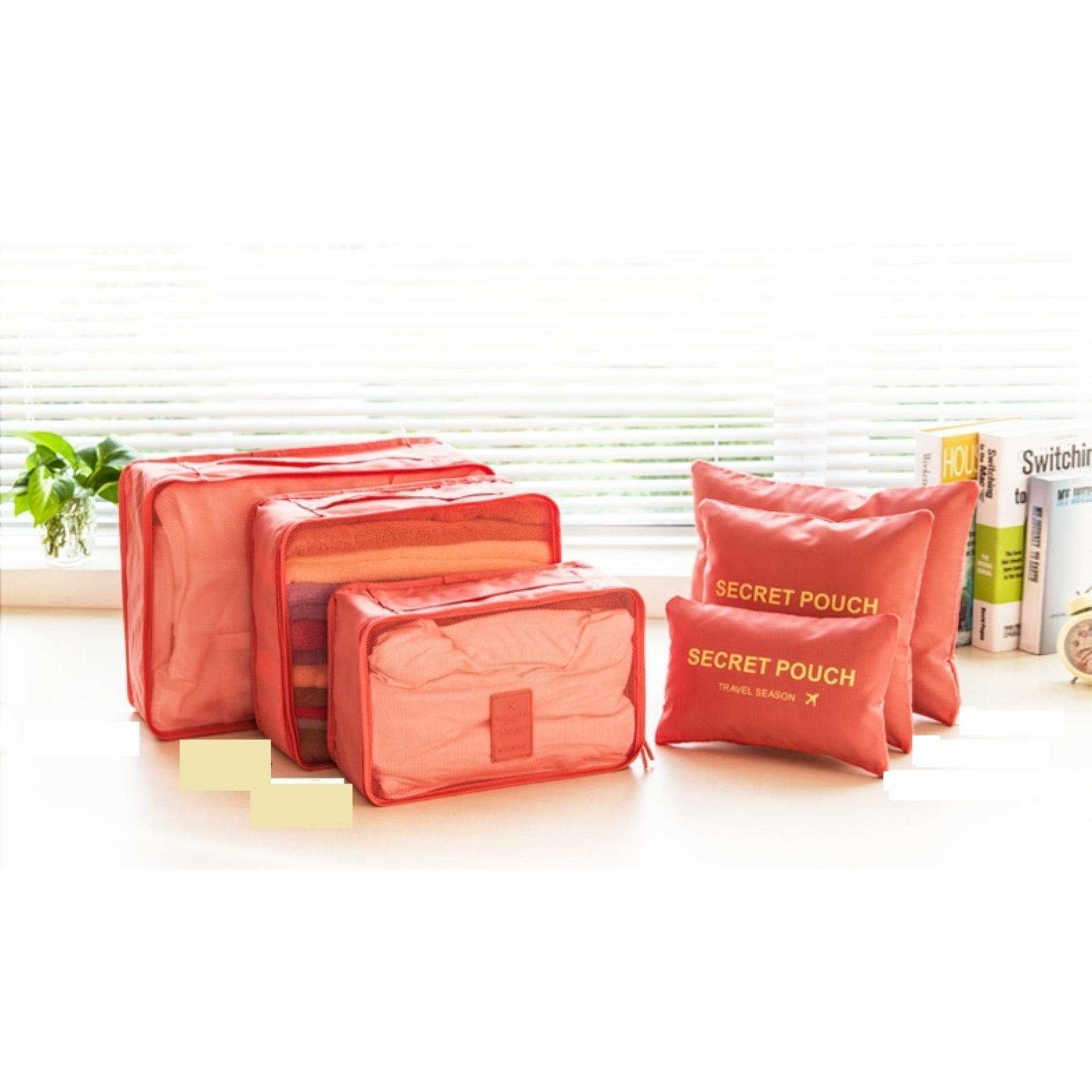 Tư vấn mua Bộ 6 túi du lịch chống thấm Bags in Bag (Cam)