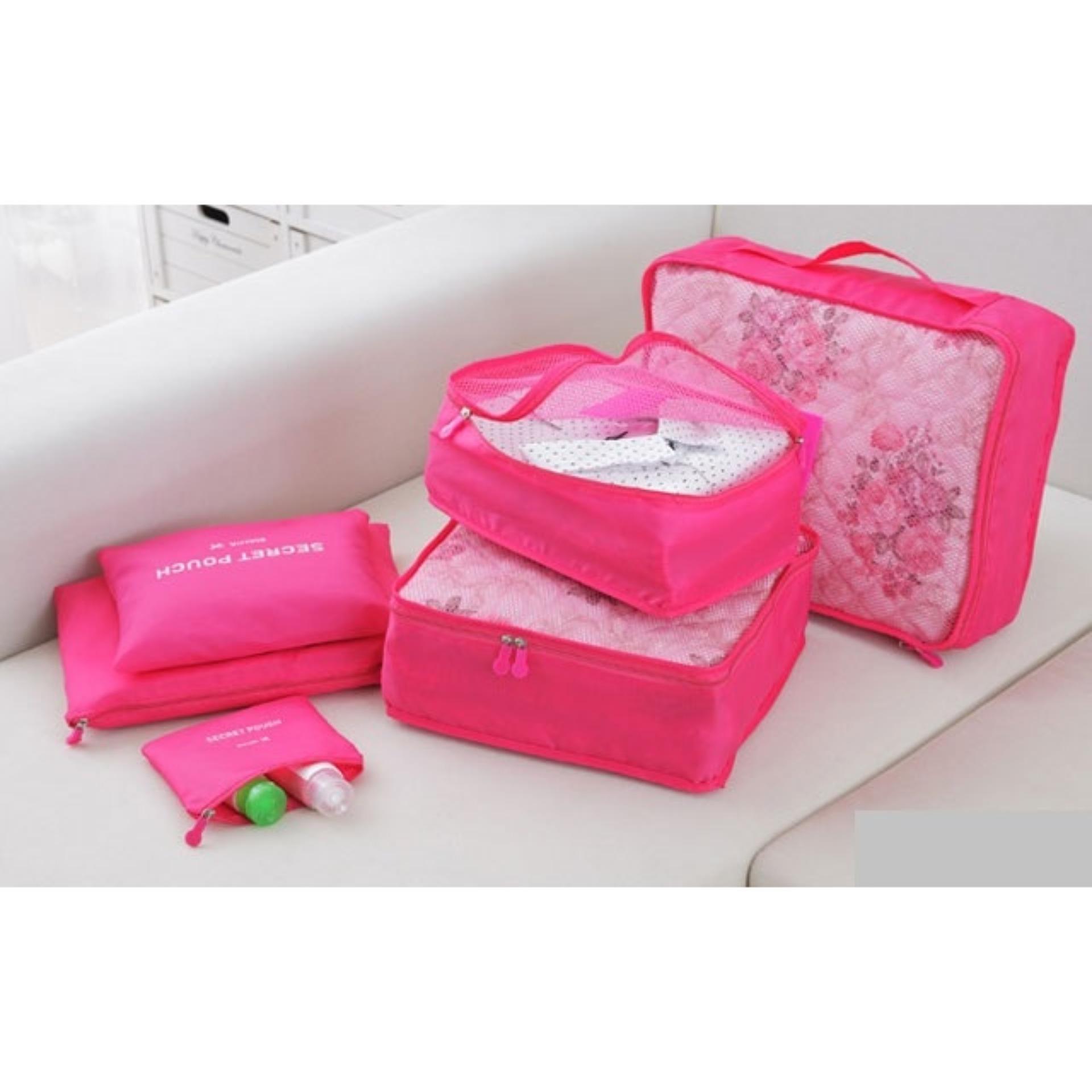 Nơi nào bán Bộ 6 túi du lịch chống thấm Bags in Bag ( Hồng)