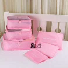 Giá bán Bộ 6 túi du lịch chống thấm Bags in Bag ( Hồng nhạt)
