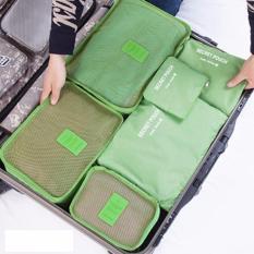 Bộ 6 túi du lịch chống thấm Bags in Bag (xanh lá)