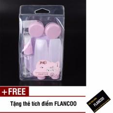 Bộ chiết mỹ phẩm du lịch 7 món Flancoo S1232 (Tím) + Tặng kèm thẻ tích điểm Flancoo