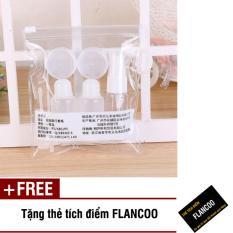 Bộ chiết mỹ phẩm du lịch 7 món Flancoo S1261 (Trắng) + Tặng kèm thẻ tích điểm Flancoo