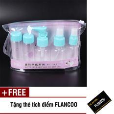 Bộ chiết mỹ phẩm du lịch 7 món Flancoo S1272 (Xanh dương) + Tặng kèm thẻ tích điểm Flancoo