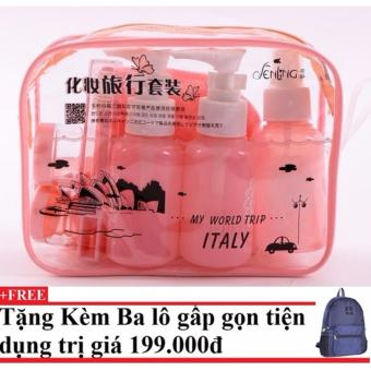Bộ chiết mỹ phẩm gồm 10 món ( hồng cam) + Tặng kèm balo du lịch gấp gọn - 10228802 , CH258OTAA3W24CVNAMZ-6962206 , 224_CH258OTAA3W24CVNAMZ-6962206 , 250000 , Bo-chiet-my-pham-gom-10-mon-hong-cam-Tang-kem-balo-du-lich-gap-gon-224_CH258OTAA3W24CVNAMZ-6962206 , lazada.vn , Bộ chiết mỹ phẩm gồm 10 món ( hồng cam) + Tặng kèm ba