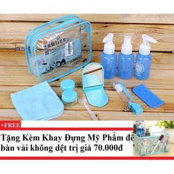 Bộ chiết mỹ phẩm gồm 10 món (xanh dương) + Tặng kèm khay đựng mỹ phẩm để bàn - 10228854 , CH258OTAA43RDKVNAMZ-7422091 , 224_CH258OTAA43RDKVNAMZ-7422091 , 198000 , Bo-chiet-my-pham-gom-10-mon-xanh-duong-Tang-kem-khay-dung-my-pham-de-ban-224_CH258OTAA43RDKVNAMZ-7422091 , lazada.vn , Bộ chiết mỹ phẩm gồm 10 món (xanh dương) + Tặng