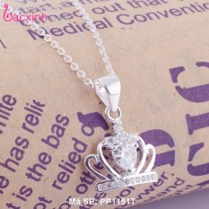 Bộ dây chuyền trang sức bạc Ý S925 Bạc Xinh – Vương miện đẹp PP1151