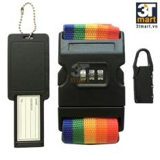 Bộ dây đai khóa số thẻ tên dành cho hành lý CJSJ™ Travel set
