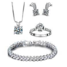 Bộ trang sức bạc 4 món đính đá thời trang minhtueshop SBT407