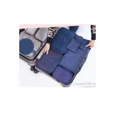Bộ túi đa năng giúp chia hành lý du lịch – (Xanh đậm)