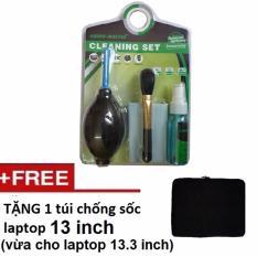 Bộ vệ sinh 6 món cho máy tính Laptop Tặng túi chống sốc Laptop 13 inch