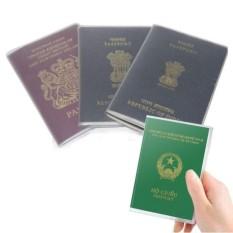 Bọc hộ chiếu nhựa dẻo, có khe nhét thẻ