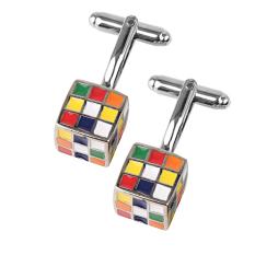 BolehDeals 1 cặp nam Nhiều Màu Sắc Cube Áo Sơ Mi Dây Khuy Ngày Lễ Xmas Quà Tặng-intl