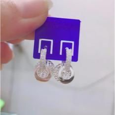 Bông tai bạc, bông tai bạc 925 giáng dài , bông tai phay, bông tai 100% bạc cao cấp BT69 trang sức Bạc QTJ(bạc)