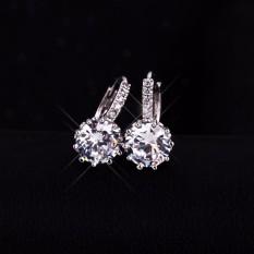 Bông tai đính hạt kim cương sang trọng quý phái BT45 ( Màu trắng )