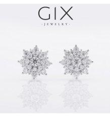 Bông tai bạc nữ trang sức đẹp hoa tuyết Gix Jewelry- SPE-0003 (trắng)