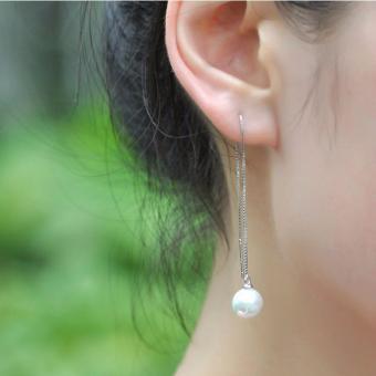 Bông tai nữ ngọc trai dáng dài thời trang BT1001