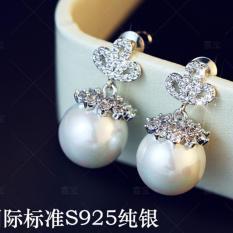 Bông tai nữ thời trang ngọc trai tòn ten HHN-KB4415(Bạc)