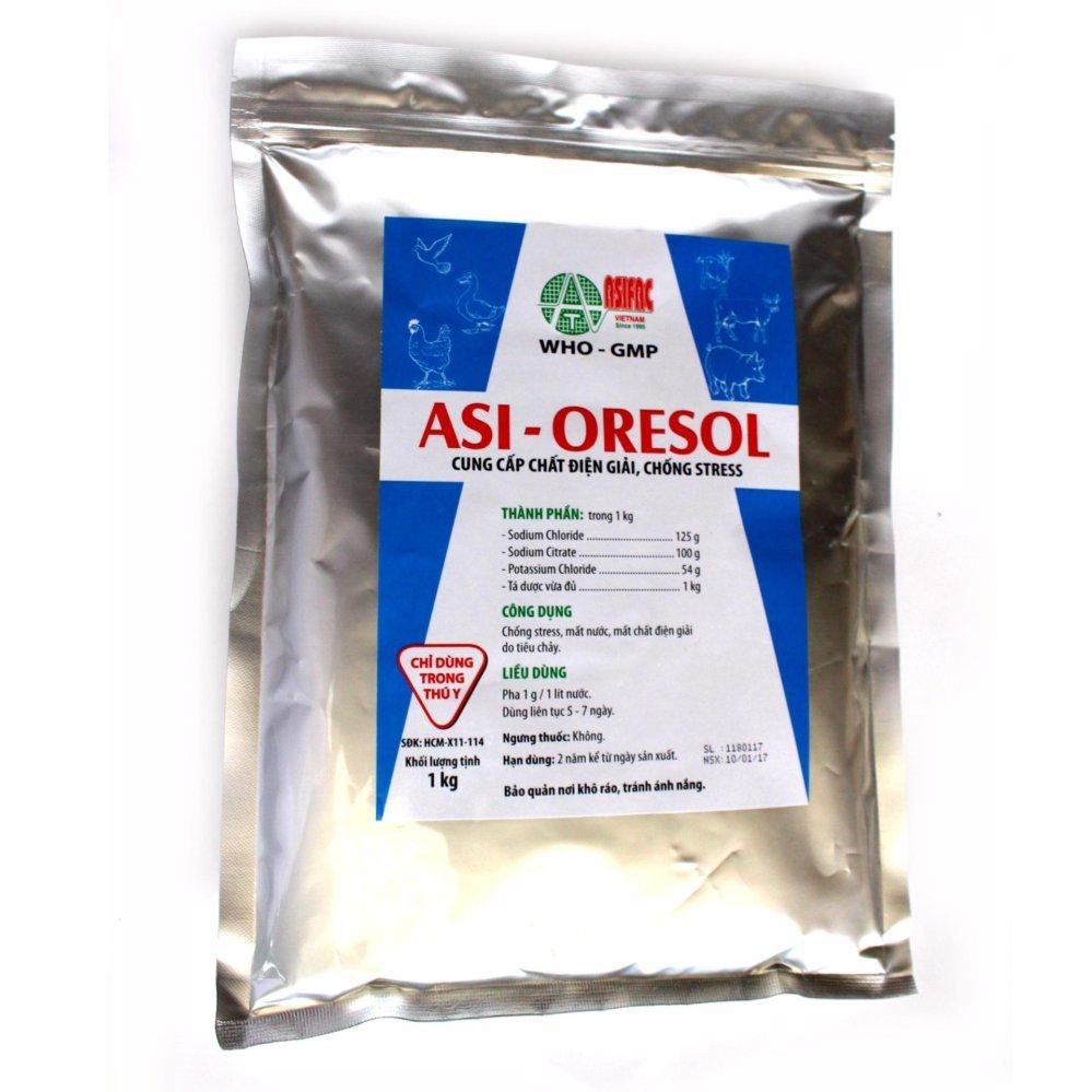 Giá Bột pha nước uống chống stress, mất nước, mất chất điện giải do tiêu chảy Asi-ORESOL (1 Kg)