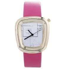 Bounabay Brand PU metal small belt leisure gear white literal quartz watch – intl