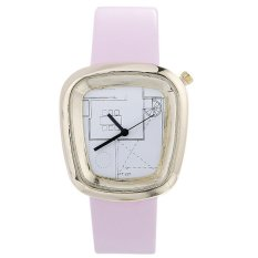 Bounabay Brand strap decoration metal PU leisure gear gold shell quartz watch – intl
