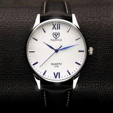 Bounabay Brand Watch 318 Simple Fashion Roman striped quartz watch Blue Glass male Wristwatches – intl
