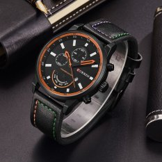 Bounabay Brand Watch Mens Watches Luxury Leather Strap Quartz Watch Fashion Casual Sport Clock Relogio Masculino 8217 – intl