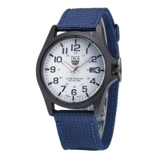 Bounabay Luxury men quartz calendar casual simulation canvas stainless steel watch – intl